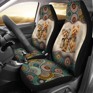 Yorkshire Terrier - Seat Covers Mandala [07-D] Car Seat Covers