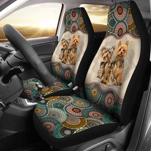 Open image in slideshow, Yorkshire Terrier - Seat Covers Mandala [07-D] Car Seat Covers