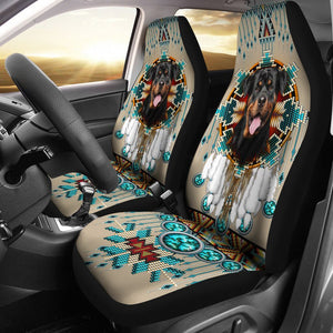 Open image in slideshow, Rottweiler - Seat Covers Native [07-B] Car Seat Covers