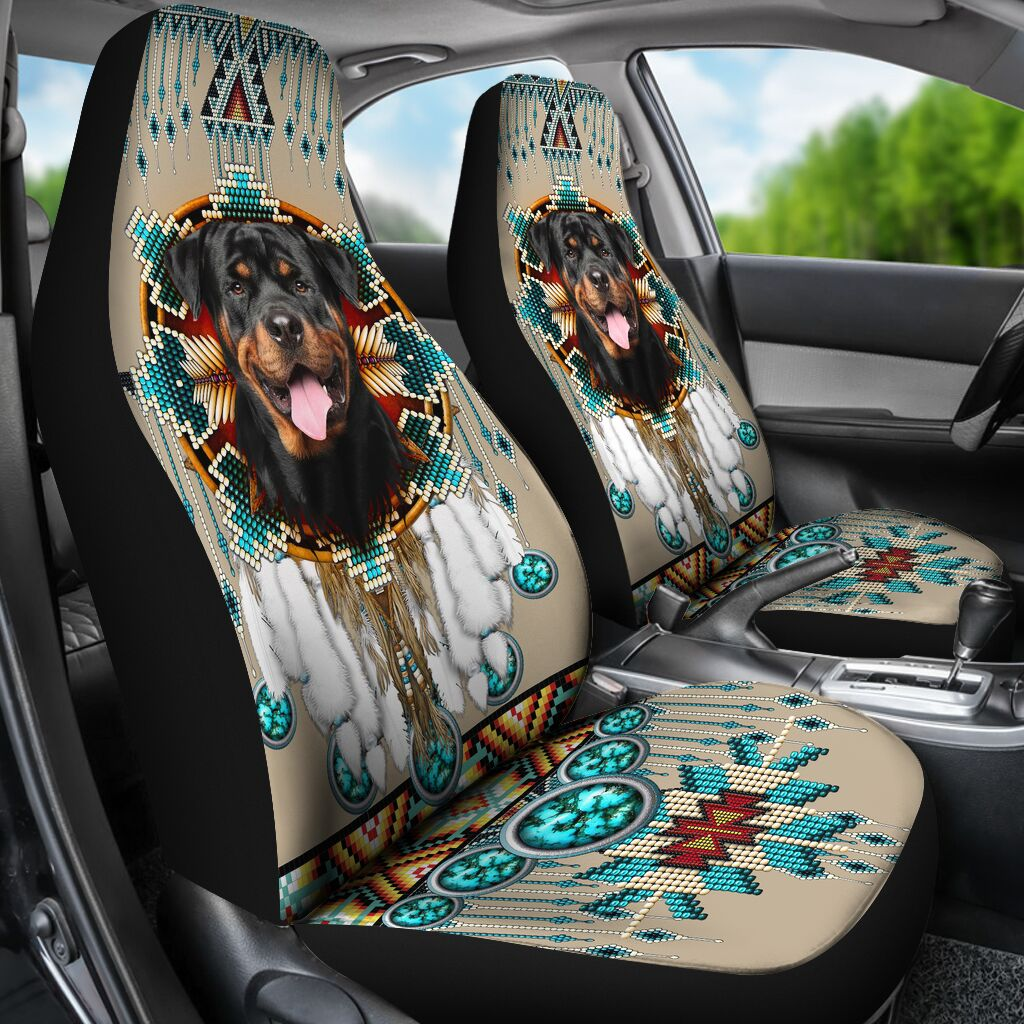Rottweiler - Seat Covers Native [07-B] Car Seat Covers
