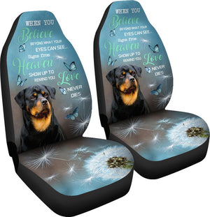 Rottweiler - Seat Covers When You Believe [07-P] Car Seat Covers