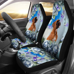 Open image in slideshow, Boxer - Seat Covers Blue Flower [07-N] Car Seat Covers