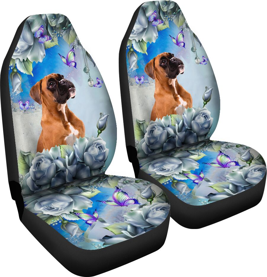 Boxer - Seat Covers Blue Flower [07-N] Car Seat Covers
