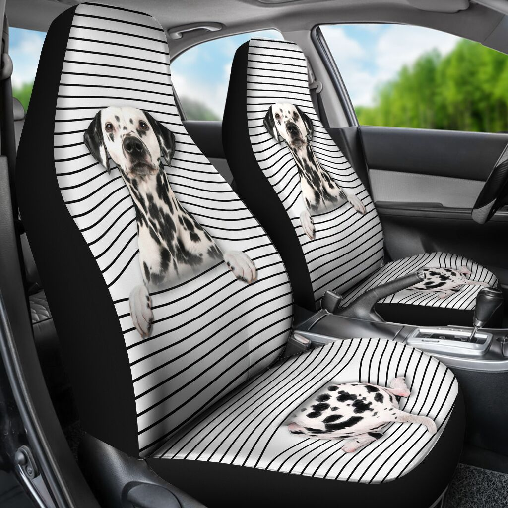 Dalmatian - Seat Covers White Version Car Seat Covers