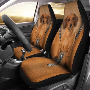 Open image in slideshow, Dachshund Seat Covers Car Seat Covers