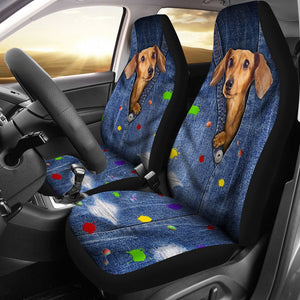 Open image in slideshow, Dachshund Seat Cover Car Seat Covers