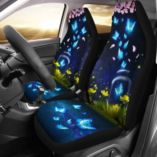 Butterfly Stray In The Night - Car Seat Car Seat Covers