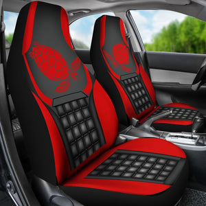 Ln Turtle Red And Black Car Seat Covers