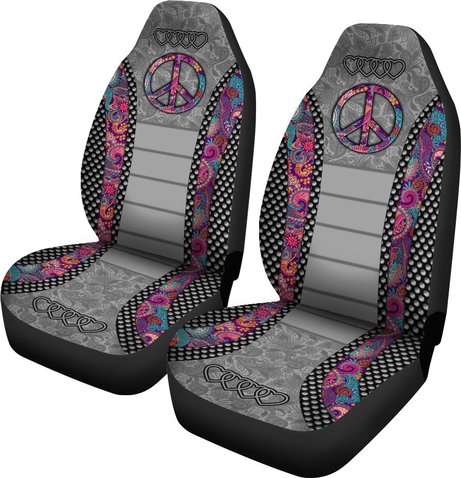 Hippie Vintage - Seat Covers Car Seat Covers