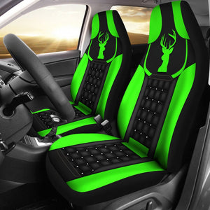 Open image in slideshow, Deer - Neon Green Seat Covers Car Seat Covers