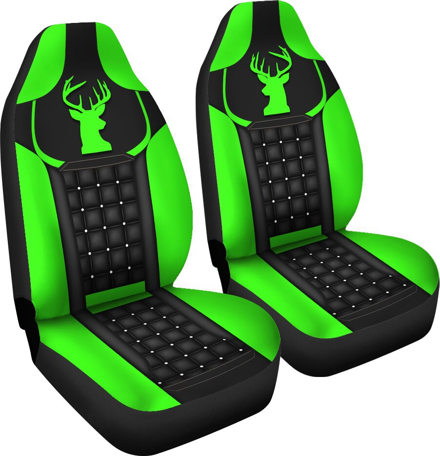 Deer - Neon Green Seat Covers Car Seat Covers