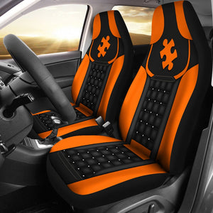 Autism  - Orange Seat Covers Car Seat Covers