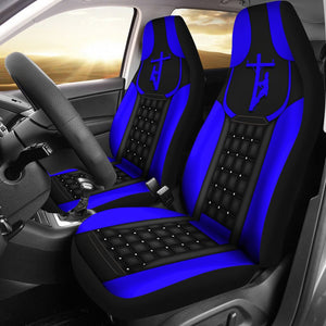 Open image in slideshow, Lineman  - Blue Seat Covers Car Seat Covers
