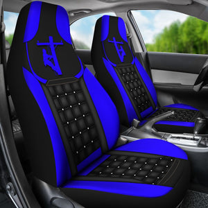 Lineman  - Blue Seat Covers Car Seat Covers