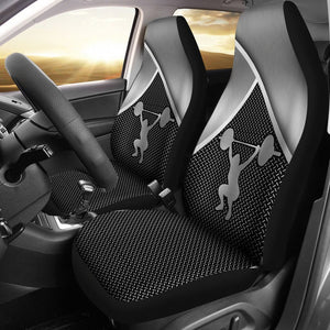 Open image in slideshow, Weightlifting Silver Metal Car Seat - Sr Car Seat Covers