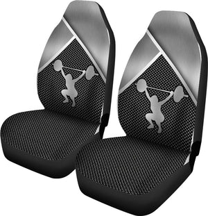 Weightlifting Silver Metal Car Seat - Sr Car Seat Covers
