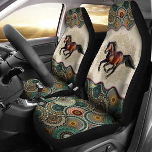 Open image in slideshow, Horse - Vintage Mandala Car Seat Sky Car Seat Covers