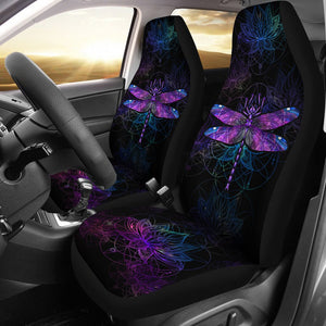 Open image in slideshow, Dragonfly Lotus Galaxy Car Seat Lqt Car Seat Covers