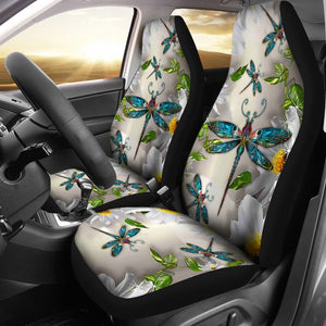 Open image in slideshow, Dragonfly Flower Car Seat Lqt Car Seat Covers