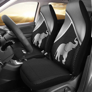 Open image in slideshow, Elephant Silver Metal Car Seat - Sr Car Seat Covers