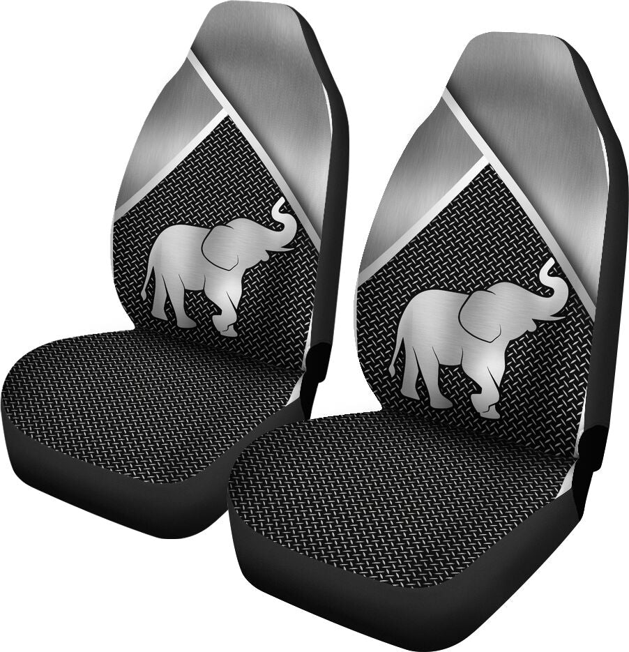 Elephant Silver Metal Car Seat - Sr Car Seat Covers