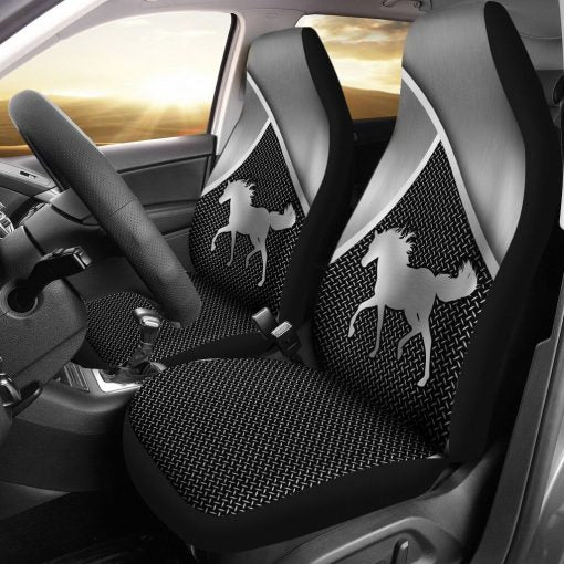 Horse Silver Metal Car Seat - Sr Car Seat Covers