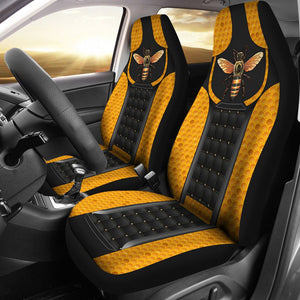 Open image in slideshow, Bee Leather Horizontal Car Seat Lqt Car Seat Covers