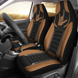 Open image in slideshow, Sign Language Leather Horizontal Car Seat Lqt Car Seat Covers