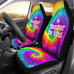 Open image in slideshow, Teacher Bekind Tie Dye Car Seat Star Car Seat Covers