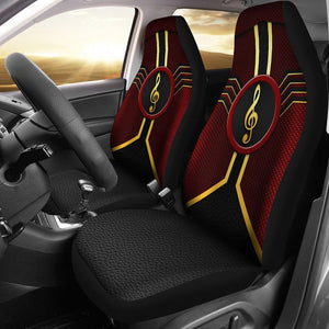 Open image in slideshow, Music Leather Mix Car Seat Lqt Car Seat Covers