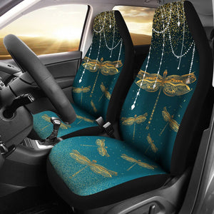 Open image in slideshow, Decorative Gold Dragonfly - Car Seat Car Seat Covers
