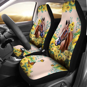 Open image in slideshow, Horse - Seat Cover Flower [07-Ph] Car Seat Covers