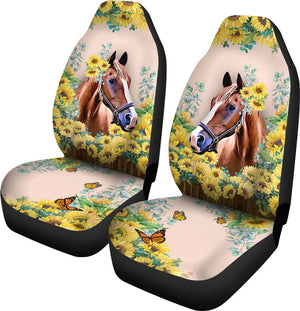 Horse - Seat Cover Flower [07-Ph] Car Seat Covers