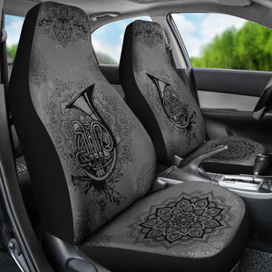 French Horn Henna Car Seat Car Seat Covers