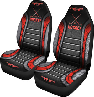 Hockey V2 Seat Car Covers Red Car Seat Covers