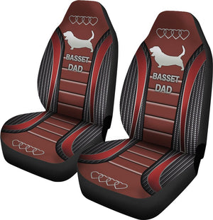Basset Dad Seat Covers Car Seat Covers