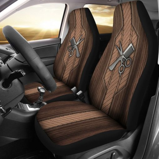 Hairstylist Wood - Car Seat Car Seat Covers