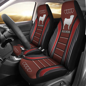 Open image in slideshow, Pug Mom Seat Covers Car Seat Covers