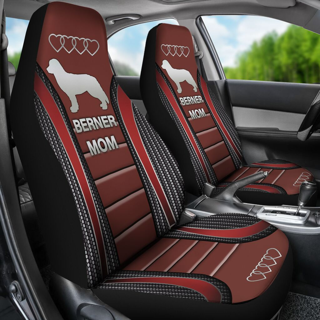 Bernese Mountain Seat Covers - Red Car Seat Covers