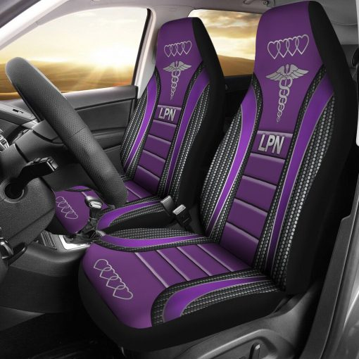 Lpn Seat Covers - Purple Car Seat Covers