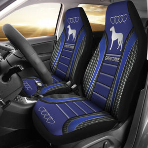 Open image in slideshow, Great Dane Seat Covers - Blue Car Seat Covers