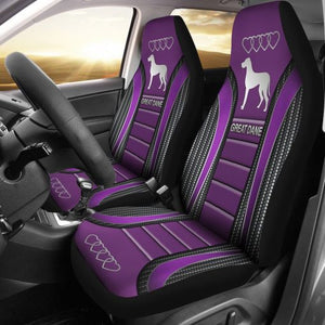 Great Dane Seat Covers - Purple Car Seat Covers