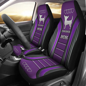 Open image in slideshow, Chihuahua Mom Dog Seat Covers - Purple Car Seat Covers