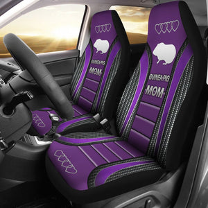 Open image in slideshow, Guinea Pig Mom Seat Covers - Purple Car Seat Covers