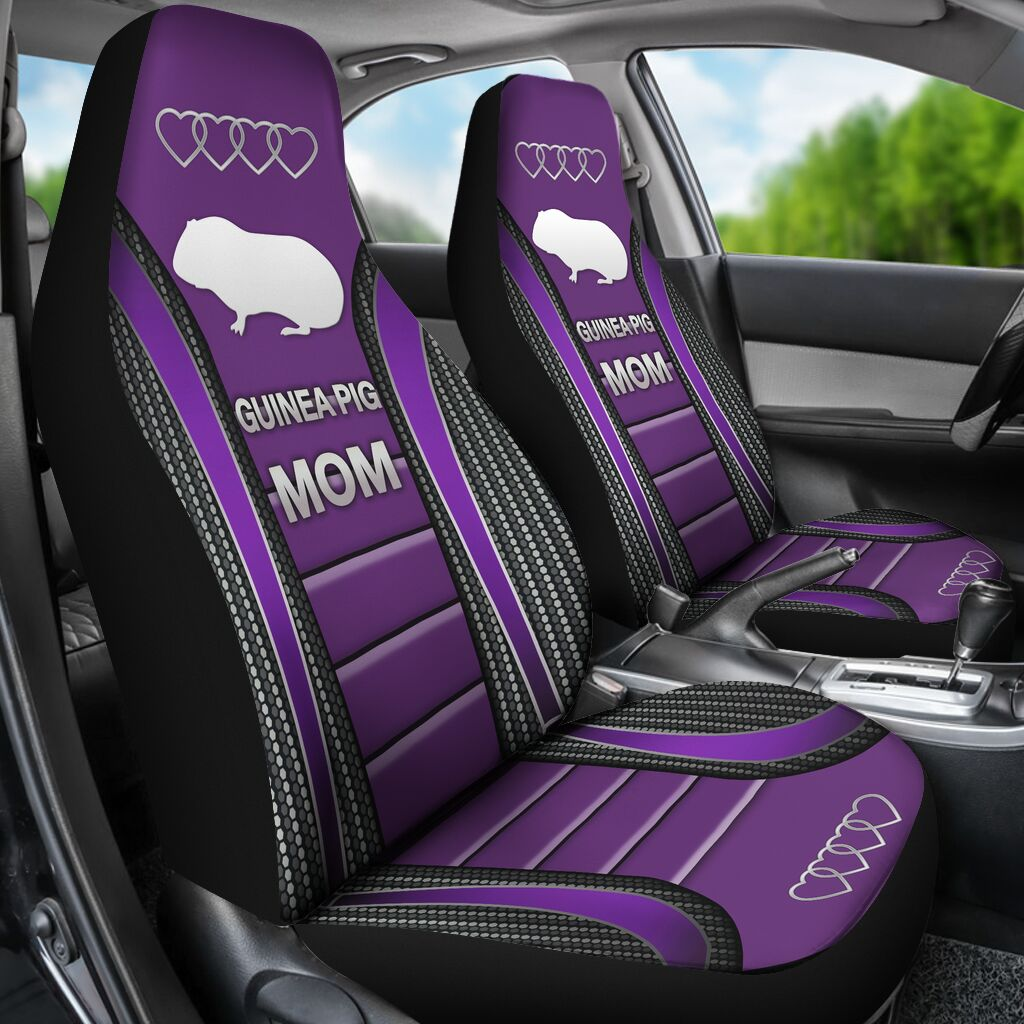 Guinea Pig Mom Seat Covers - Purple Car Seat Covers