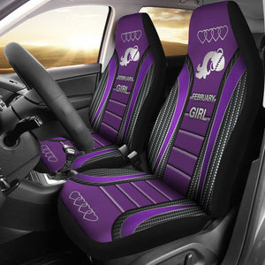 Open image in slideshow, February Girl Seat Covers - Purple Car Seat Covers
