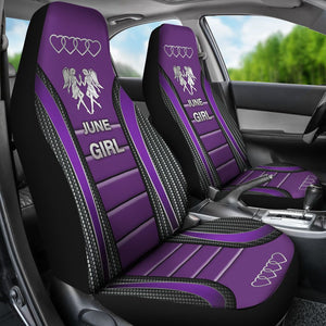 June Girl Seat Covers - Purple Car Seat Covers