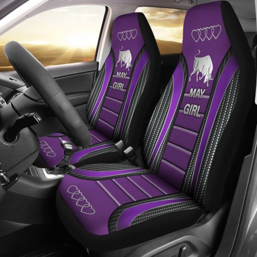 May Girl Seat Covers - Purple Car Seat Covers