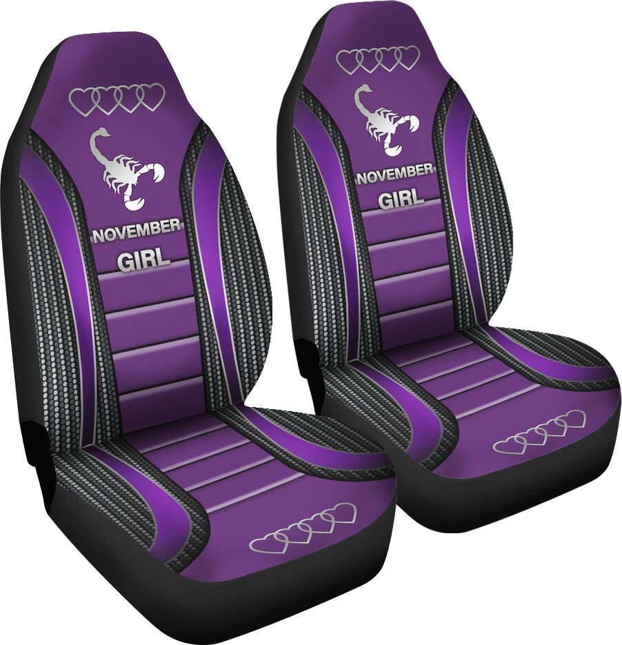 November Girl Seat Covers - Purple Car Seat Covers