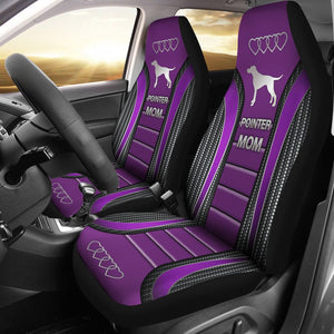 Open image in slideshow, Pointer Mom Dog Seat Covers - Purple Car Seat Covers